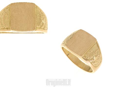 Anelli da uomo in oro giallo 18 kt