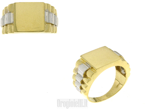 Anelli da uomo particolari in oro bicolore