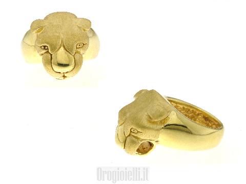 Arte dei gioielli oro Anelli PANTERA elettroformati particolari-unici