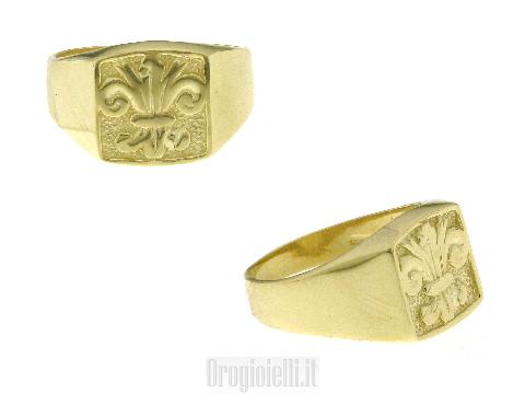 Anelli in oro con stemma Giglio firenze
