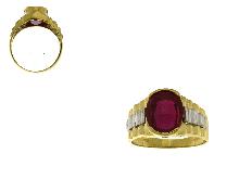 Anelli per uomini in oro e pietre colorate