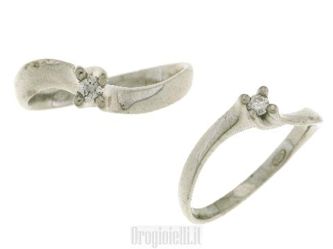 Anello Bigiotteria: Solitario Eros con diamante