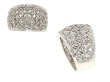 Anello a fascia con diamanti in oro