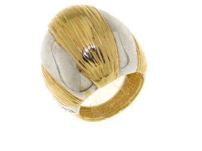 Gioielli Art dèco Anello bombato bicolore Artlinea