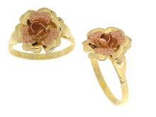Anello con rosa in oro 18 carati