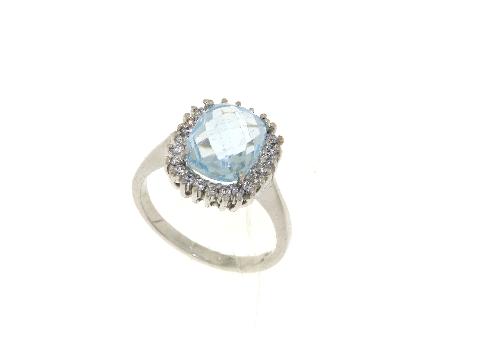 Gioielli fashion CHIC Anello con topazio azzurro