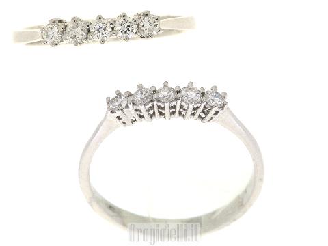 Anello conveniente veretta con diamanti