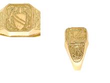 Anello da uomo con stemma oro 18 kt