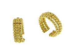 Anello fascia grande 3 file oro giallo