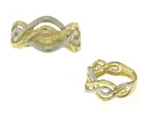 Anello fascia torcion bicolore