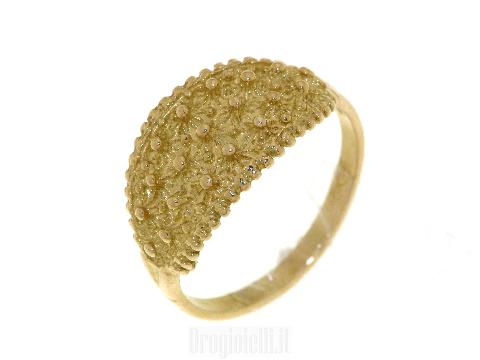 Anello fede sarda in oro 18 carati