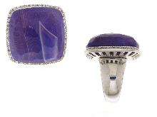 Anello in argento 925 ed ametista