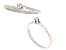 Joyas de oro: Anillo de oro blanco con diamantes
