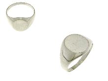 Anello mignolino in oro bianco 18k