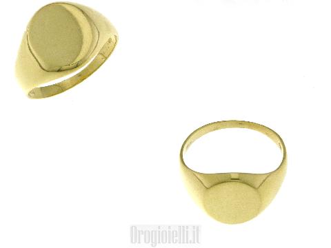 Anello mignolo in oro giallo 18k