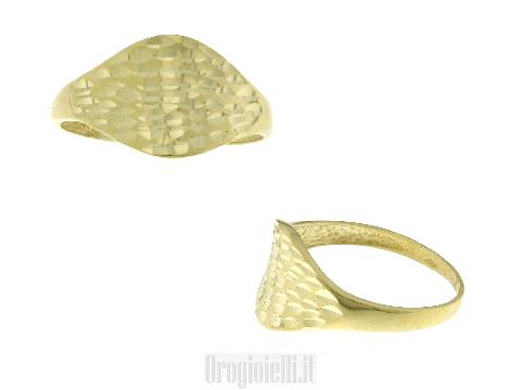 Gioielli oro lusso donna: Anello onda mare