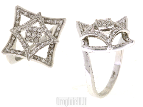 Gioielli d'Arte - Anello Fidanzamento con diamanti in oro