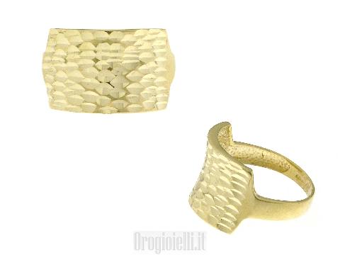 Gioielli lusso oro: Anello pioggia dorata