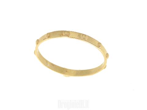 Anello rosario in oro giallo 18 carati