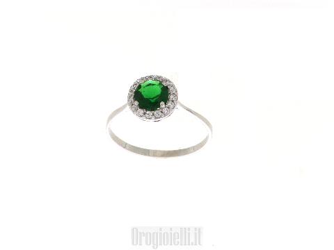 Anello smeraldo  sintetico scontato