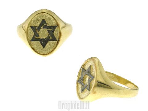 Anelli Particolari Anello uomo simbolo giudaico