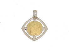 Gold Jewells: Two-tone gold angel for communion