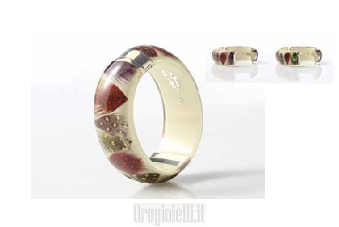 Gioielli fashion bijoux Antonella Piacenti bracciale collezione piuma