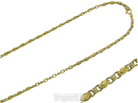 Bellissima catena unisex in oro bicolore