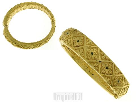 Gioielli in oro Italiani - Bellissimo bracciale rigido da donna