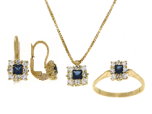 Gold Jewells: Complete with beautiful sapphire gold