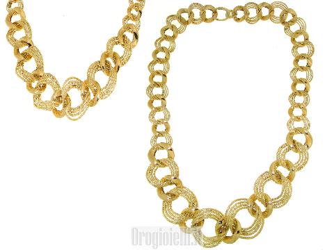 Bellissimo girocollo vuoto in oro 18 kt