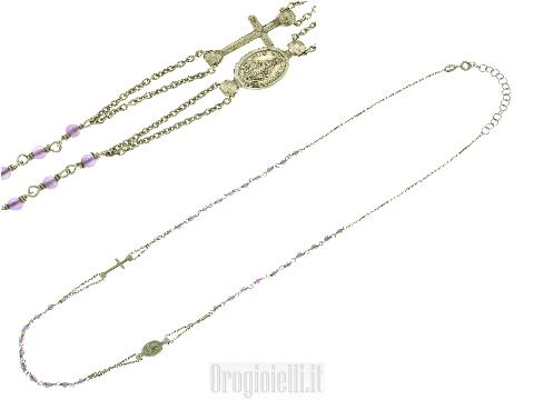 Bellissimo rosario in argento 925