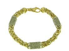 Gold Jewells: Bracelet Bling-bling Magnum for singers Rap