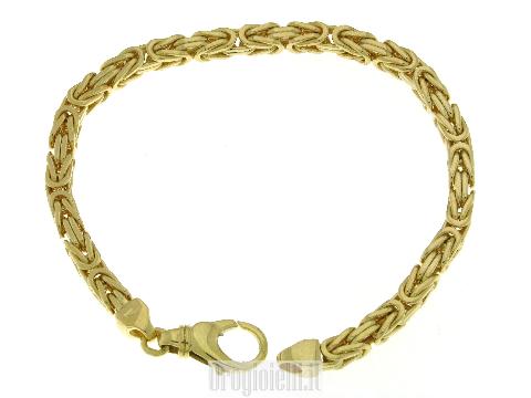 Bracciale Bling-bling maglia bizantina in oro