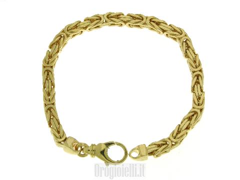 Bracciale Bling-bling maglia bizantina piena 18k