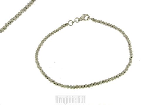 Bracciale Diamantato in argento Bianco