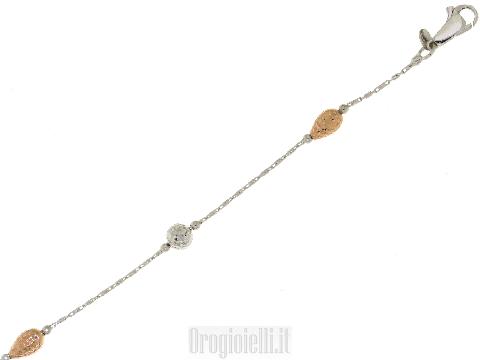 Bracciale Novello con pepite in oro rosa 18 carati