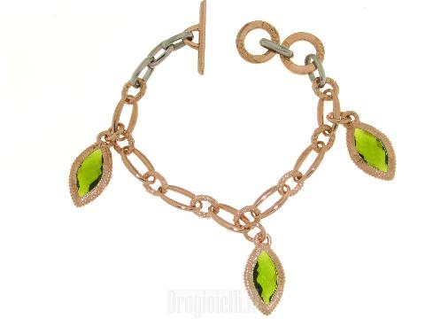 Bracciale a gocce pendenti in bronzo