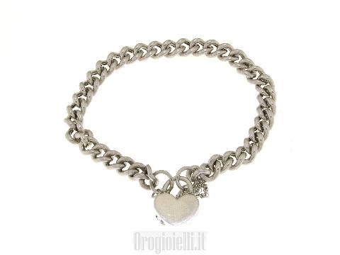 Bracciale argento con cuore