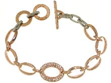 Bracciale bigiotteria Roggi in bronzo e zirconi