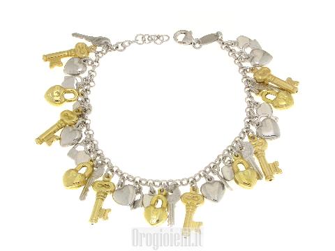 Bracciale charms argento prezzi outlet