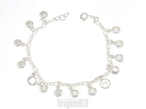 Bracciale charms in argento 925
