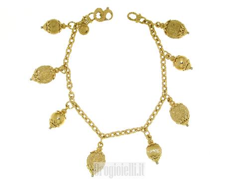 Bracciale charms in oro giallo 18 ct