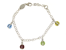 Gold Jewells: Silver lucky charm bracelet charms