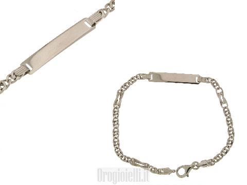 Bracciale classico comunione in argento 925