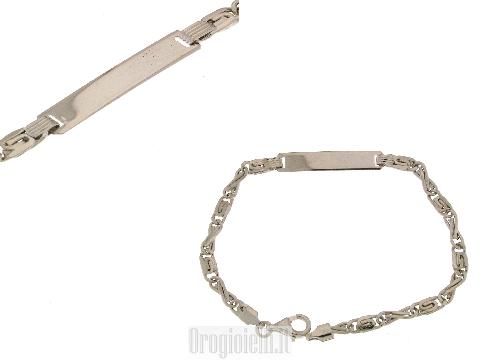 Bracciale classico cresima in argento 925