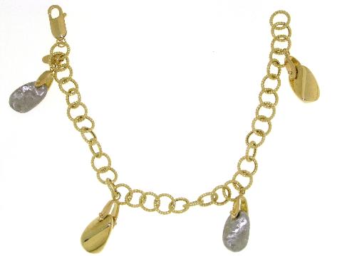 Bracciale oro con pepite come ciondoli - CHARMS