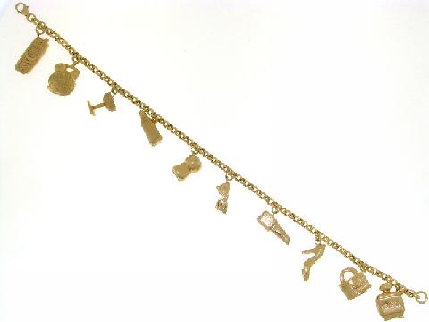 Bracciale Donna Oro con ciondoli (CHARMS)
