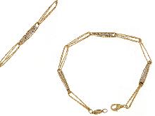 Bracciale con maglie sfaccettate in oro