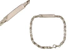 Bracciale con piastra centrale in argento